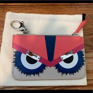Fendi Monster Coin/Card Purse